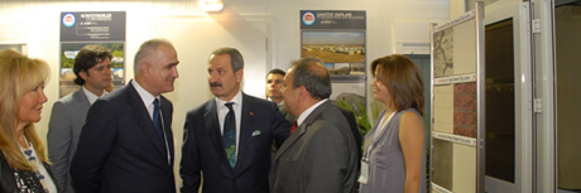 Our Minister of Economy Mr. Zafer Çağlayan visited our Mega Build Fair Booth.