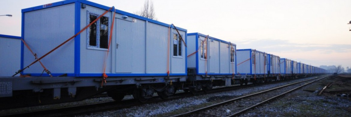 Container accommodation units were delivered to Van