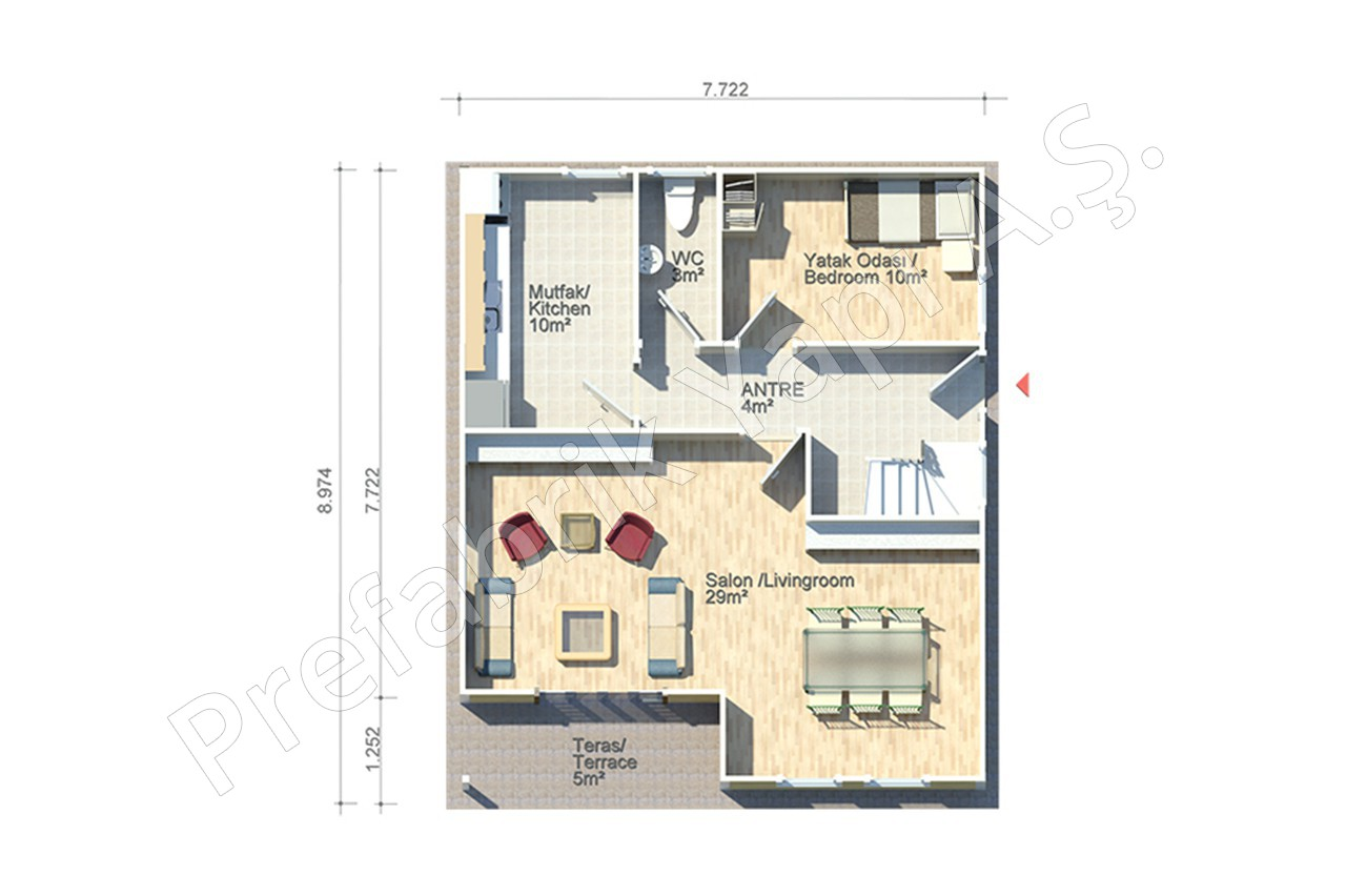 140M2 House Ground Plan