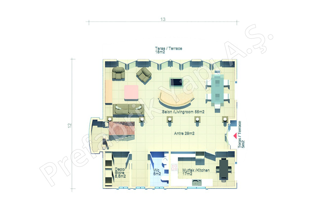 Arabic Style Villa Prefabricated Solutions