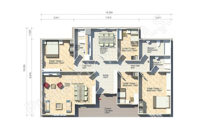 Asos 138 m2 Plan