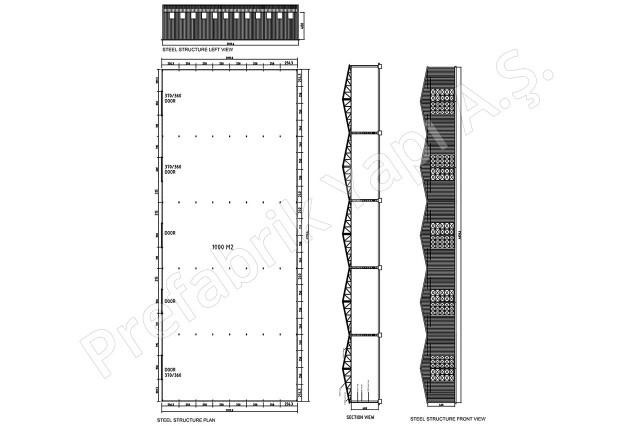 Steel Building 1000 m2