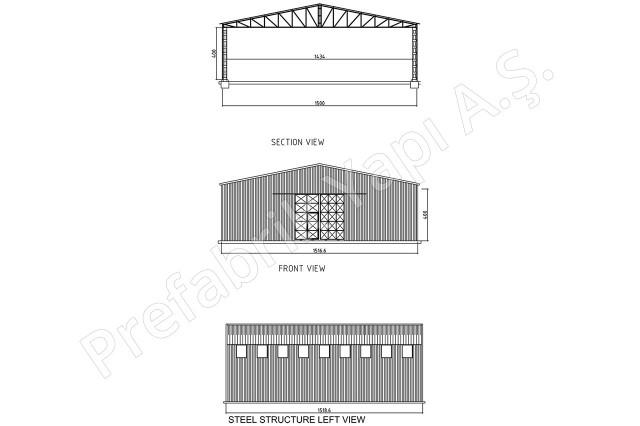 Steel Building 225 m2 Plan