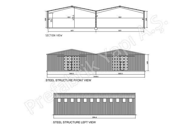Steel Building 500 m2 Plan