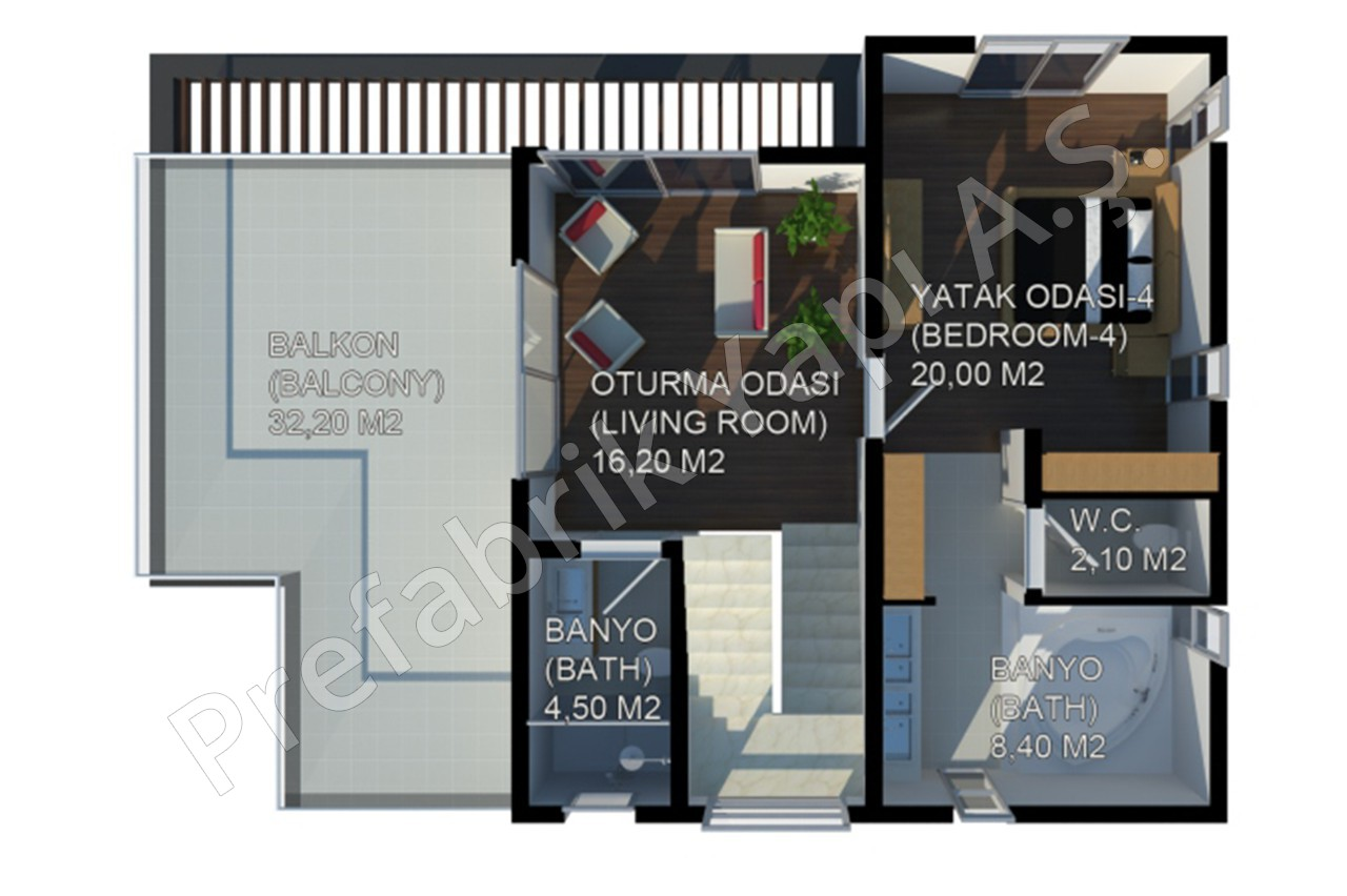 Modern villa prefabricated solutions for Plan villa moderne