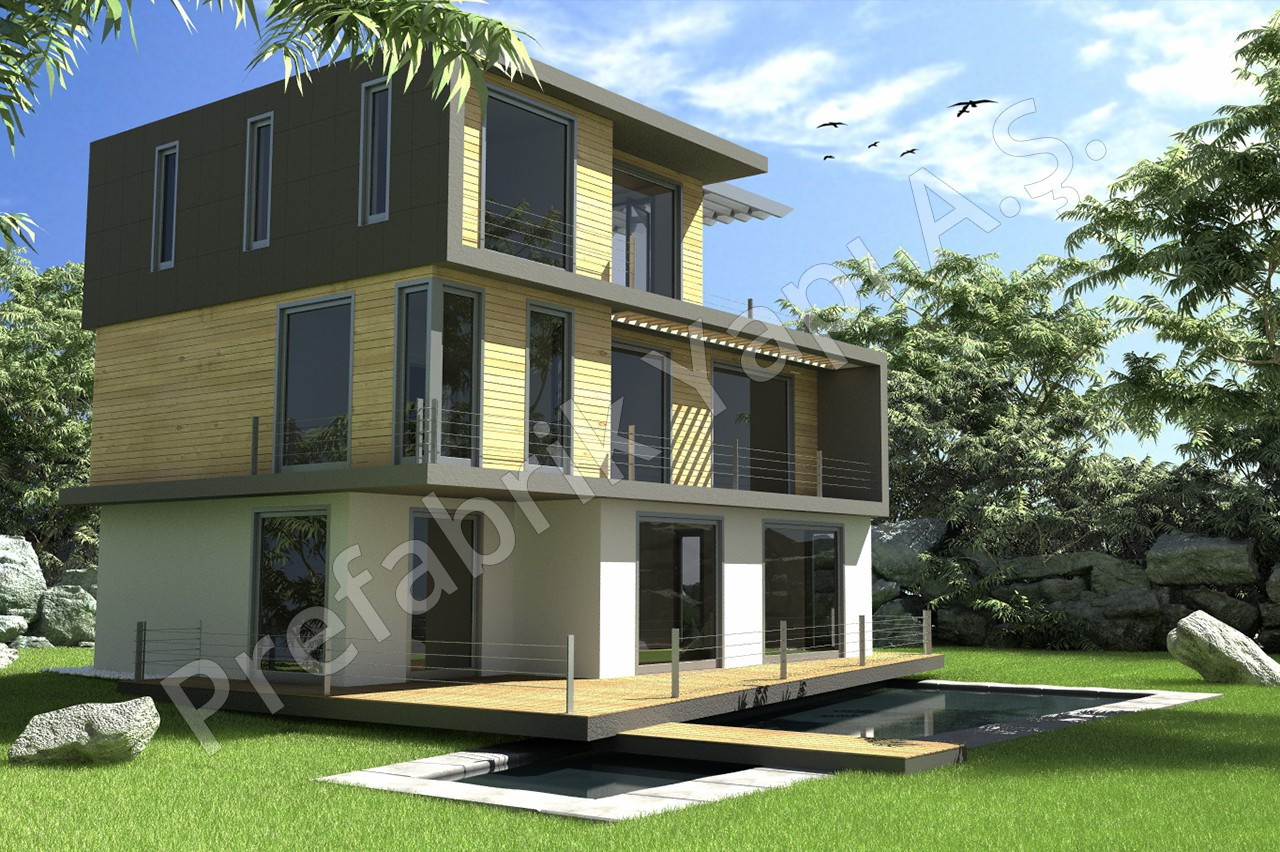 Modern villa prefabricated solutions for Modern villa