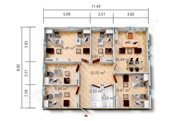 PRO 102 m2 Plan