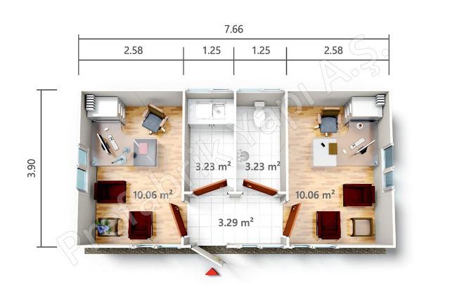 PRO 30 m2 Plan