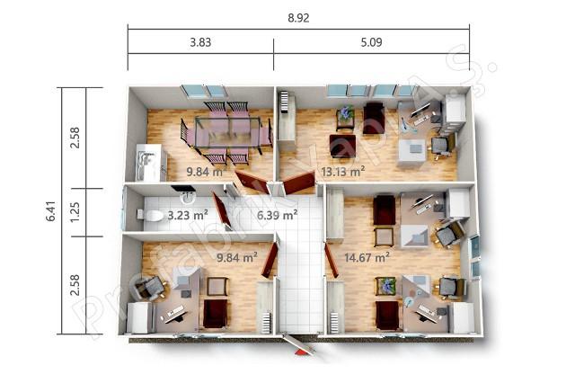 PRO 57 m2 Plan