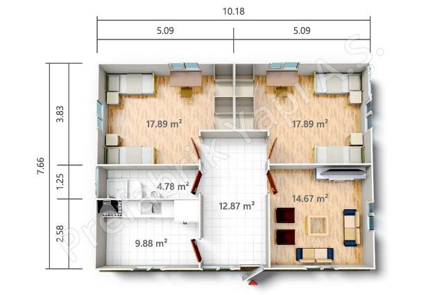 PRST 78 m2 Plan
