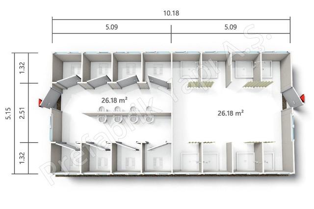 PRWD 52 m2 A Plan