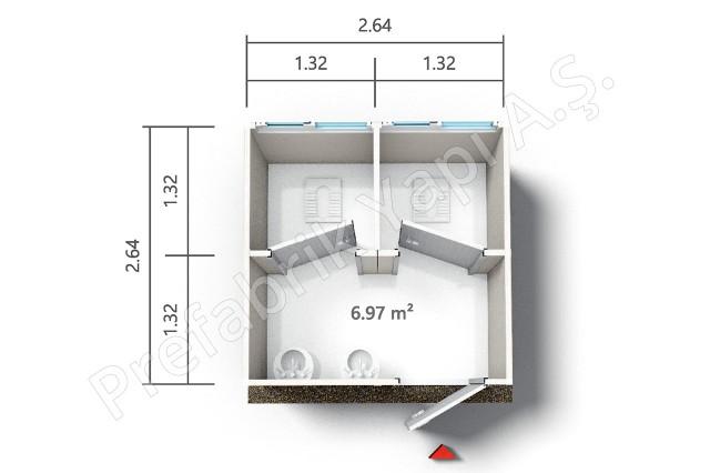 PRWD 7 m2 Plan