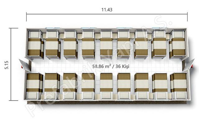 PRYT 59 m2 Plan