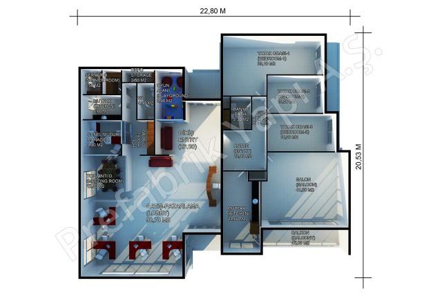 Sales Office 378 m2 Plan