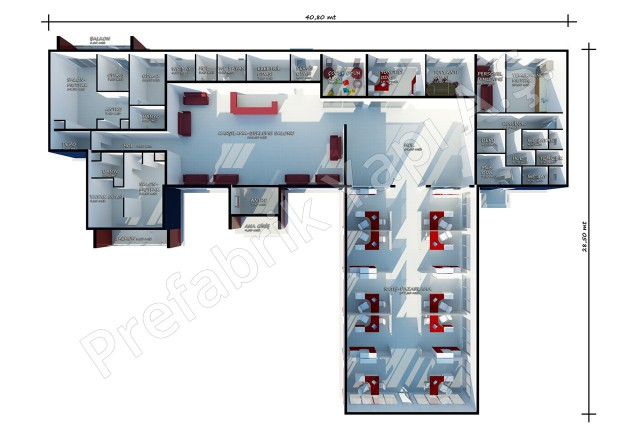 Sales Office 645 m2 Plan