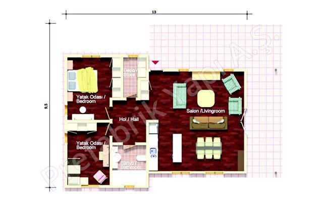 Single Storey Villa Plan