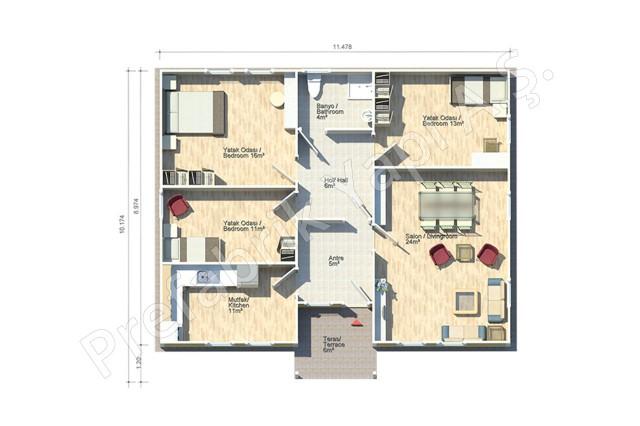 Toros 106 m2 Plan
