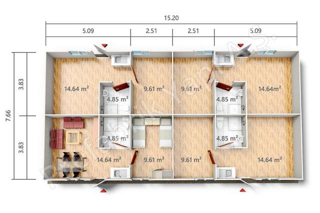 YPE 3 116 m2 Plan