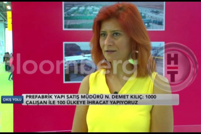 Prefabrik Yapı at 39th Turkeybuild Exhibition [BloombergHT]
